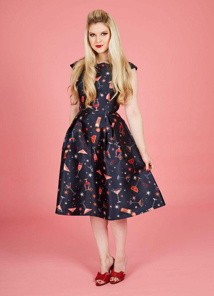 Odette Cocktail Print Dress | Rockabilly Style | Pinterest
