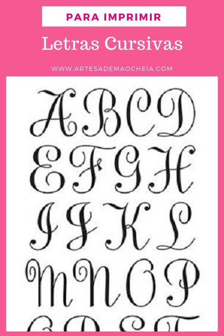 Letra Cursiva Para Imprimir Moldes Gratis Do Alfabeto Letras