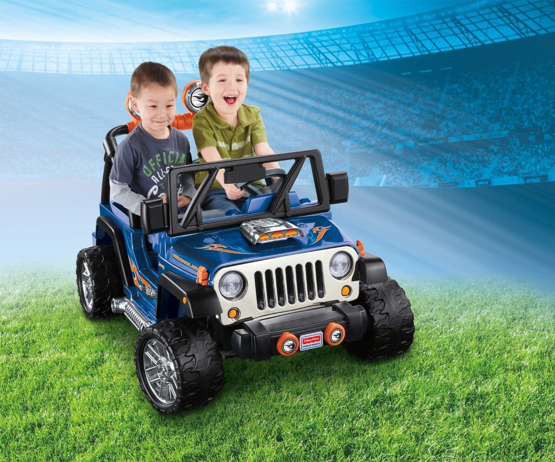 Amazon Com Fisher Price Power Wheels Hot Wheels Jeep Wrangler