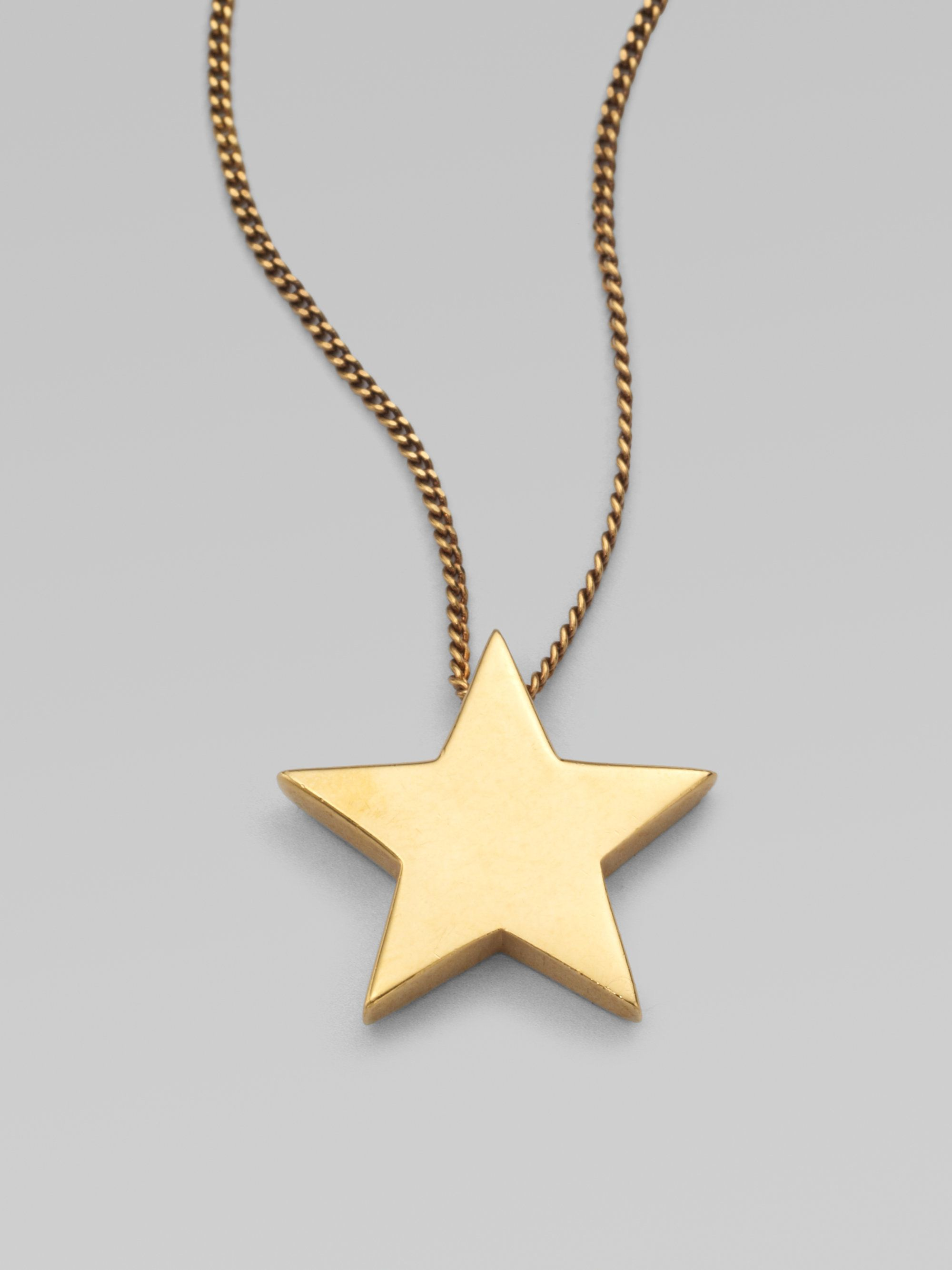 10K Gold Youre My Lucky Star Necklace by JEWLR