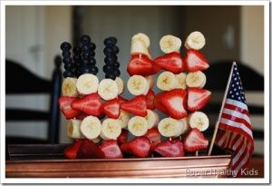 fruit kabob. never making the whole flag, but fun way to eat/present a snack