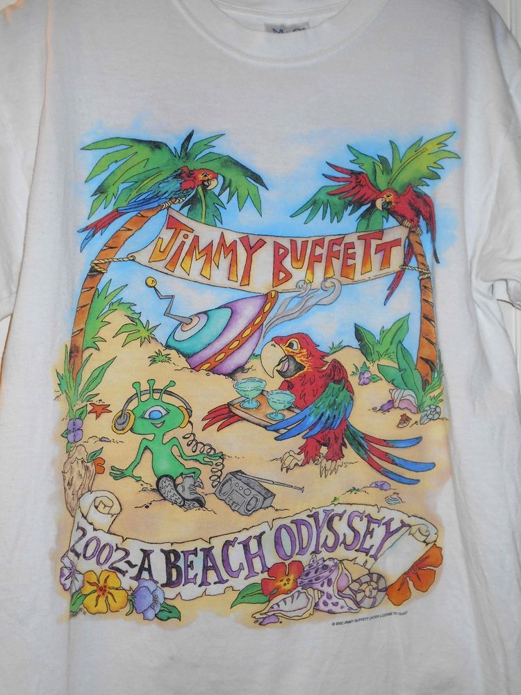 2002 JIMMY BUFFETT Beach Odyssey Concert Tour Parrots Alien