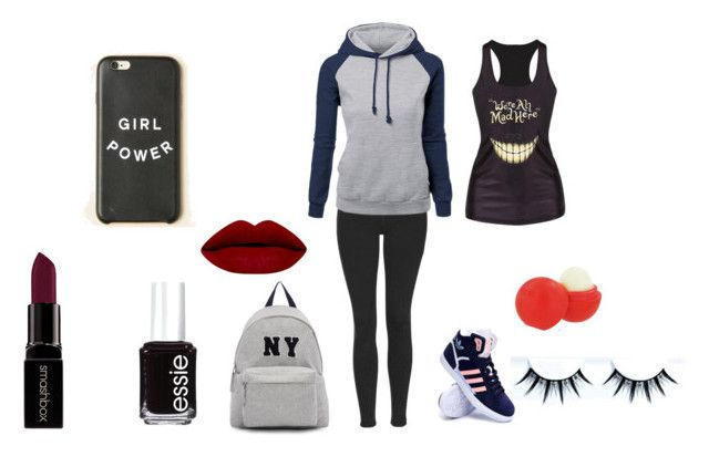 """My normal day"" by siara2021 ❤ liked on Polyvore featuring Topshop, adidas, Joshua's, Eos, Smashbox, Essie, women's clothing, women, female and woman"