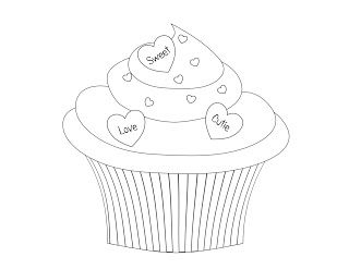 free printable pictures coloring pages for kids cute birthday cupcake coloring pages  cupcake