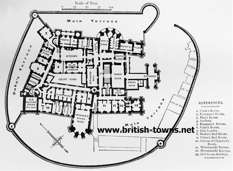 Belvoir Castle Ground Plan A Ground Plan Dating From The 1880 S With Rooms Labeled With Their Use At That Time E G Castle Plans Castle Floor Plan How To Plan