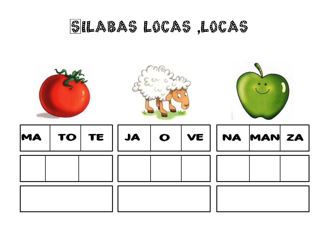 Silaba Dibujo: Silabas, Vocabulario, Palabras, Ejercicios De Lengua