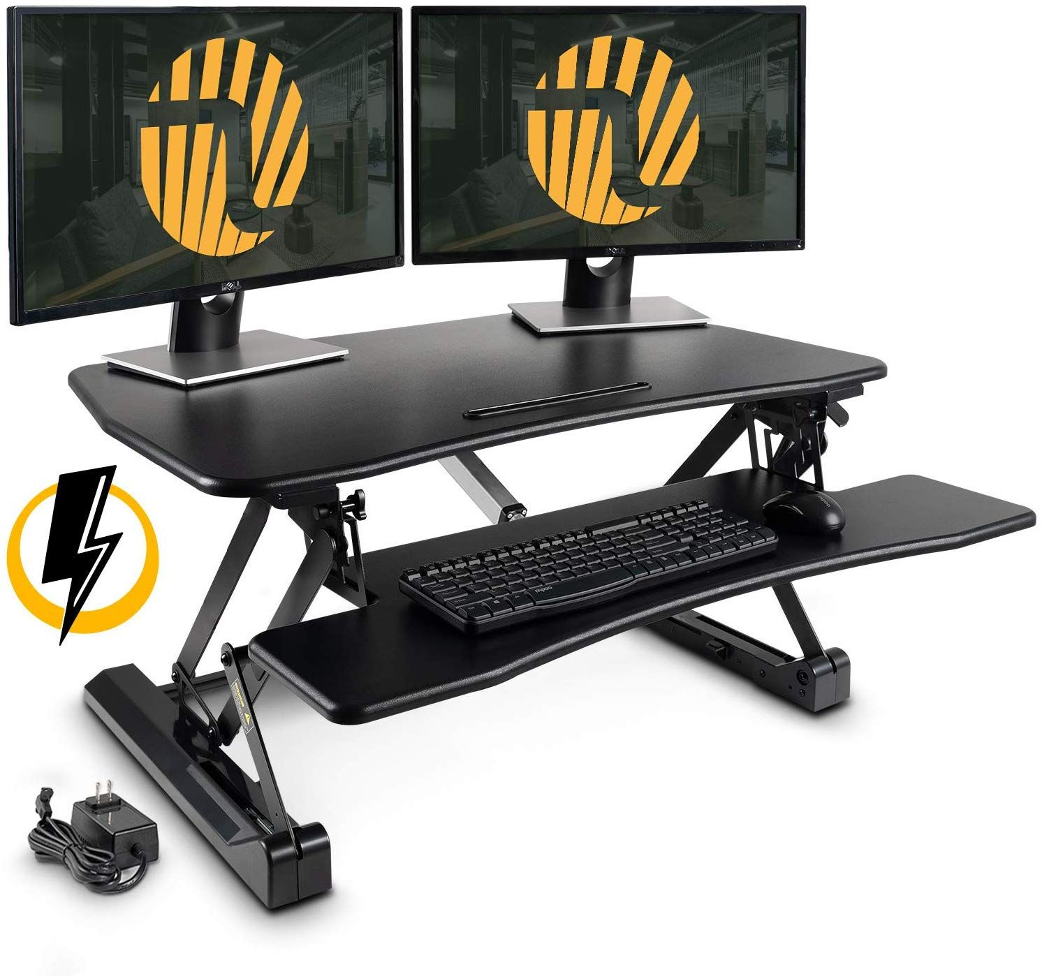 Electric Standing Desk Converter Fezibo 36 Inches Height