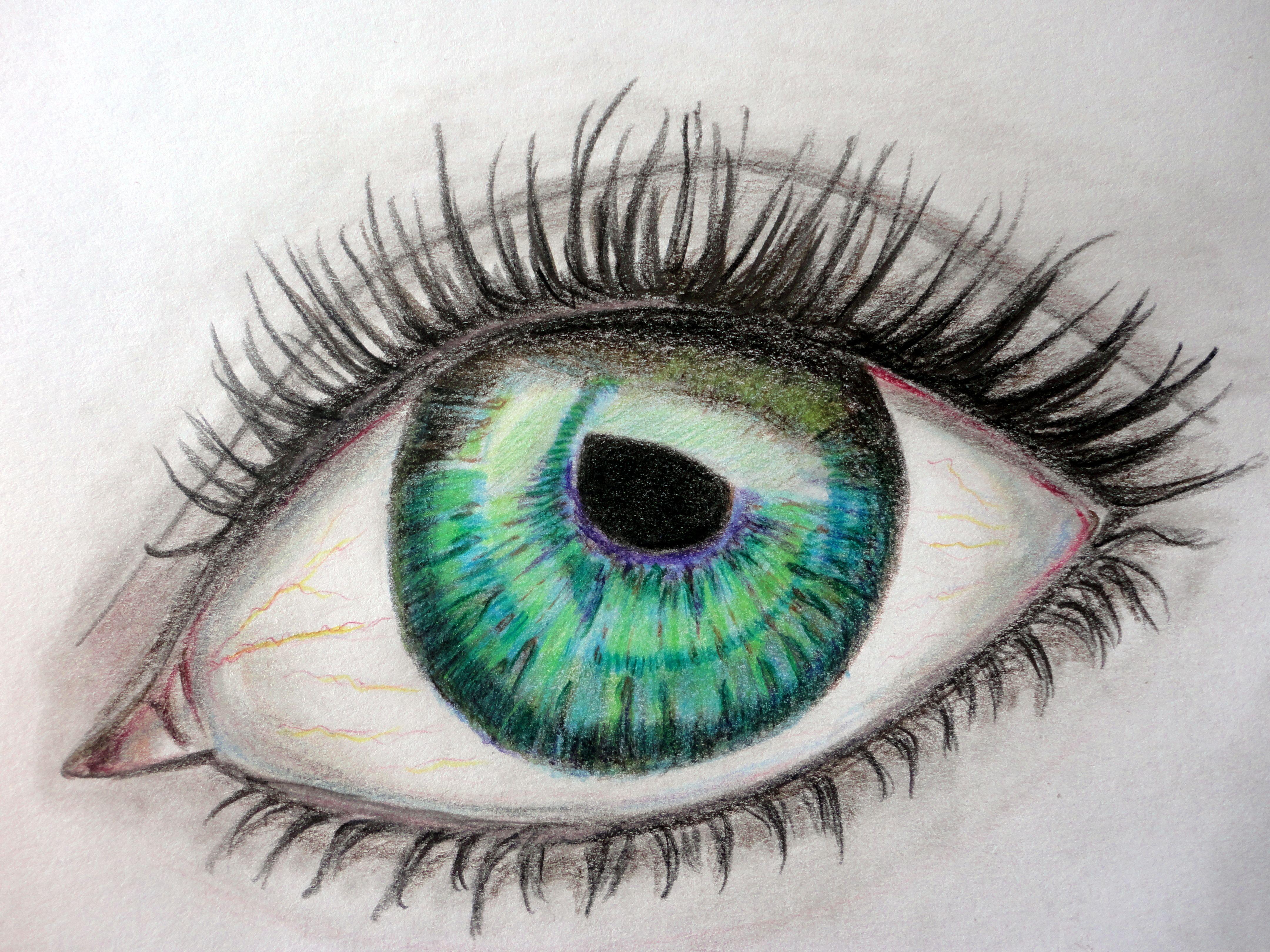 desenho de um olho com l pis de cor inspirado no do pinterest malay modificado em 24 6 14. Black Bedroom Furniture Sets. Home Design Ideas