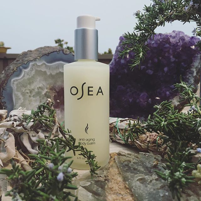 Crystals out and ready to recharge in the light of last night's moon (full as of 10:21 yesterday morning)  PS: Our Anti-Aging Body Balm is officially back in stock!!! #oseamalibu #fullmoon #fullmooninvirgo