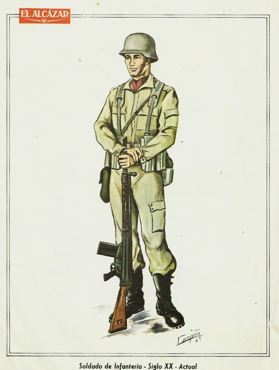 Resultado de imagen de uniforme ejercito de tierra 1970