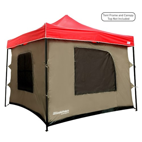 Camping Tent Attaches To Any 10 X10 Easy Up Pop Up Canopy Tent With 4 Walls Pvc Floor 2 Doors And 4 Wi Pop Up Canopy Tent Camping Canopy Canopy Tent