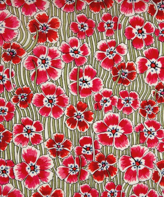 Liberty London / A smart retro floral with toothpaste stripes created from an all over floral of 'Bizzy Lizzies' dating from 1961. Description from pinterest.com. I searched for this on bing.com/images