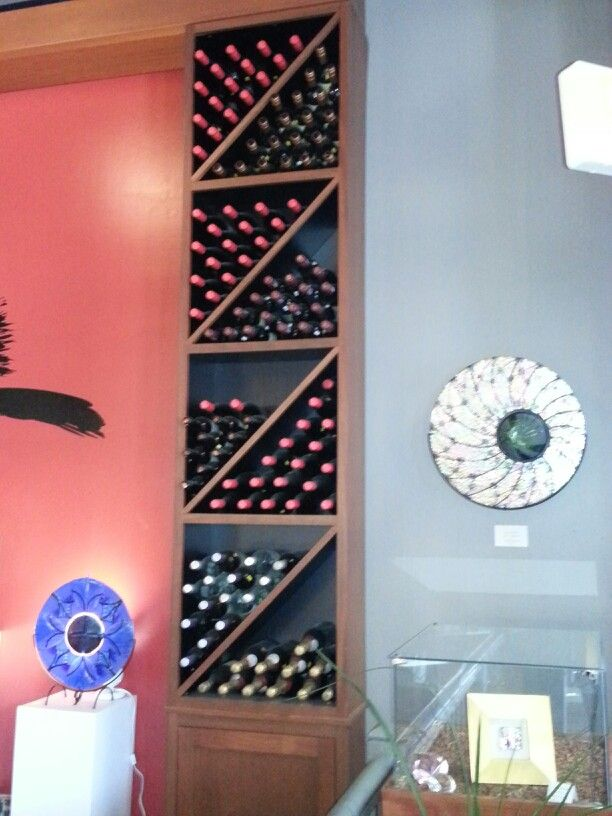 Best Idea For Odd Space Near Top Of Spiral Staircase Wine 400 x 300