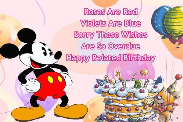 Happy Birthday Wishes And Mickey Mouse On Pinterest