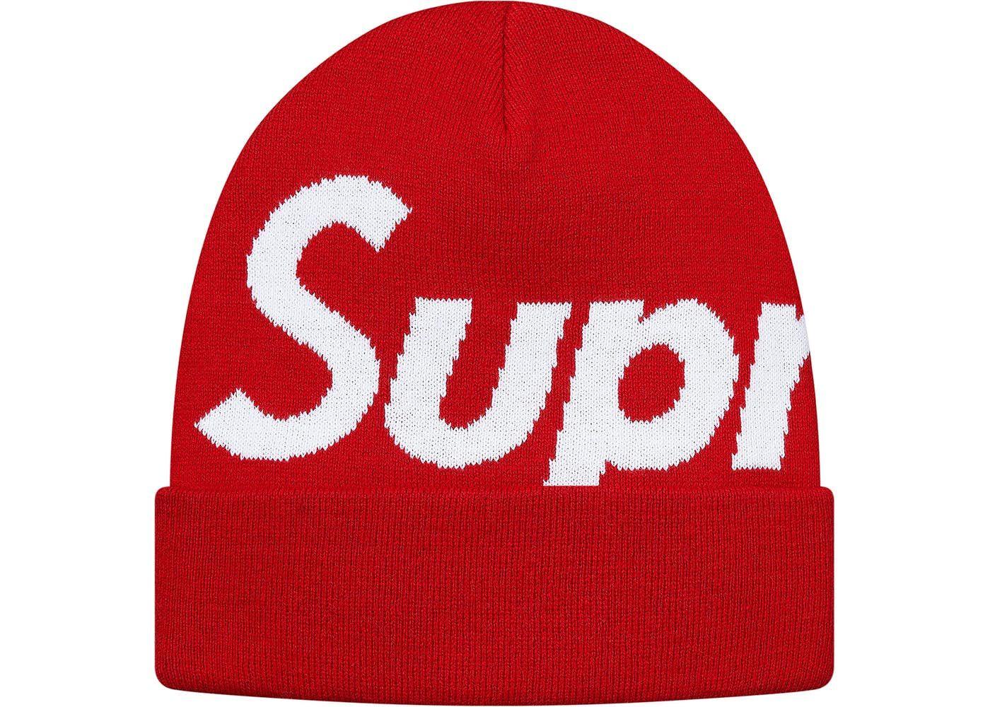 869bb852c Supreme Big Logo Beanie (FW17) Red in 2019 | Hats | Beanie, Supreme ...