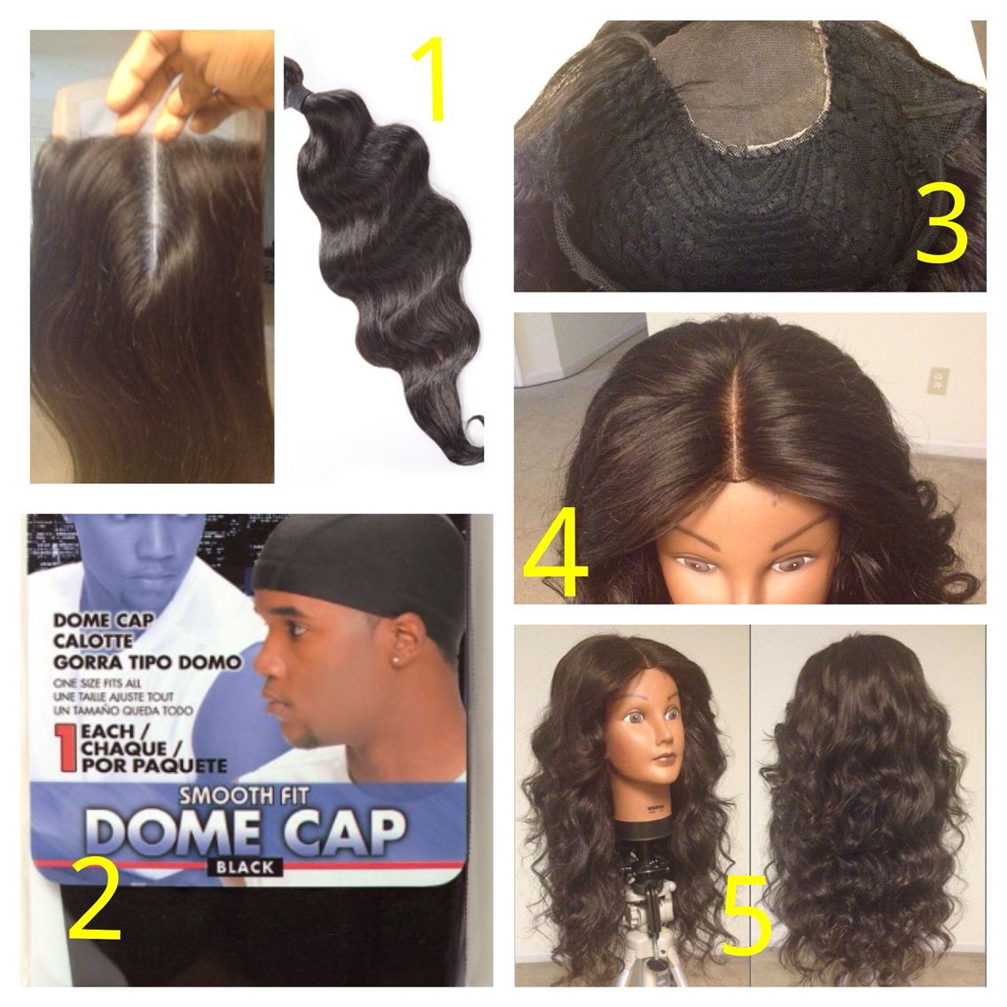How to make a lace closure custom wig unit all you need