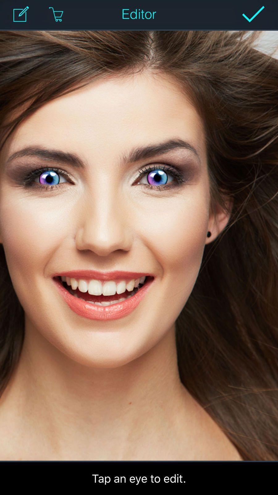 Eye Color Changer Editor Makeup Red Eye Remover