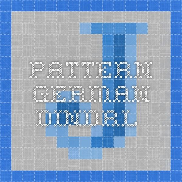 pattern german dindrl