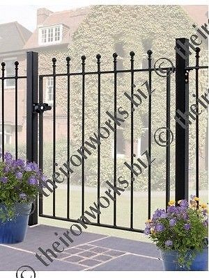 Wrought Iron Metal Gate Garden Gates Manor Small Ebay