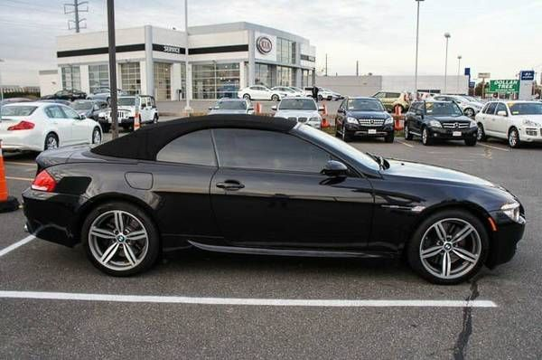 2008 Bmw 6 Series M6 Convertible Black With Images Bmw