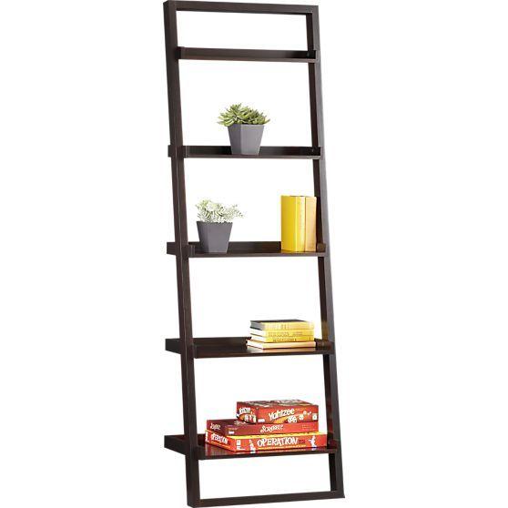 Sloane Espresso 25 5 Leaning Bookcase In Bookcases