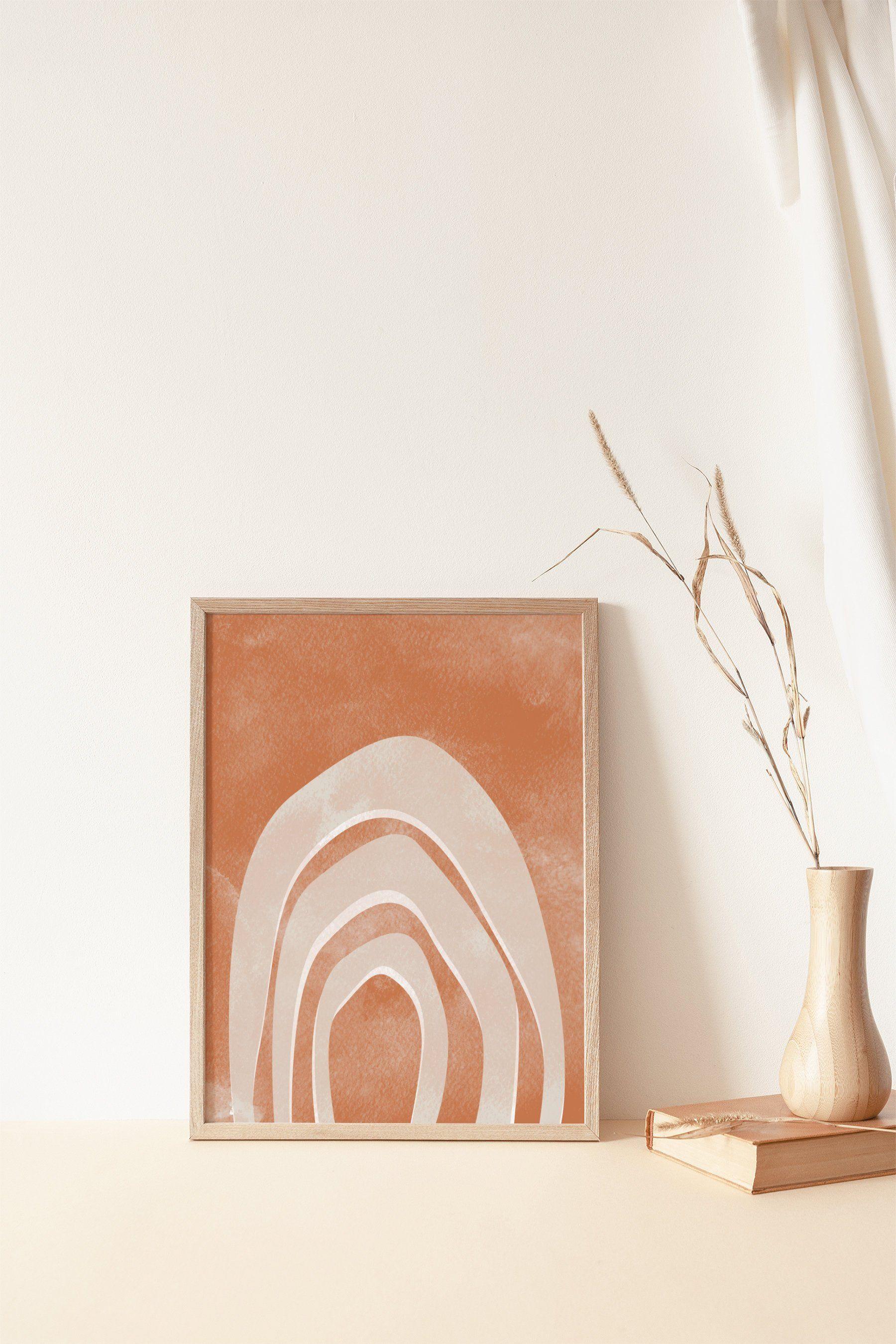Abstract Rainbow Print Modern Art Neutral Decor Terracotta Rust Orange Prints Abstract Wall Art Digita Rainbow Abstract Abstract Wall Art Neutral Wall Art