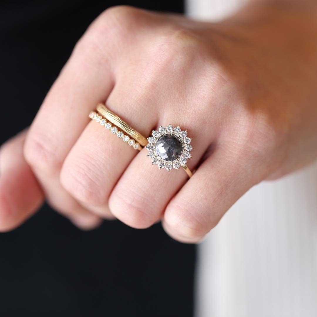 Rough Diamond Engagement Ring, Sarah O. Signature Design   Denver ...