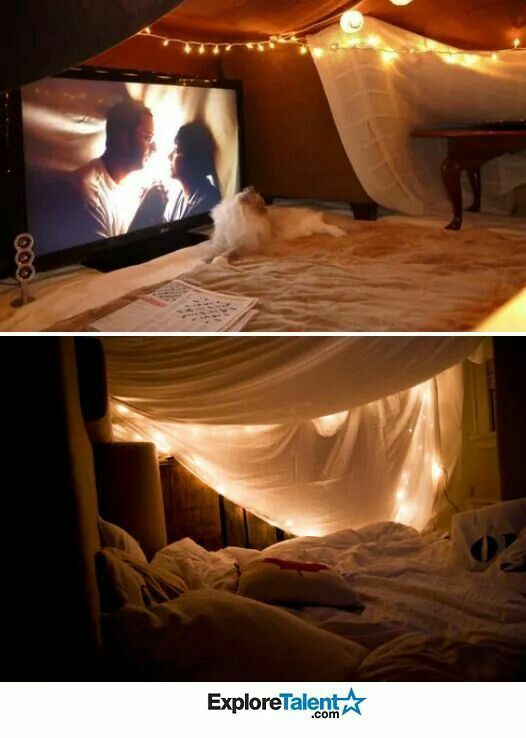 19 diy movie date night ideas at home netflix forts and for Fort bedroom ideas