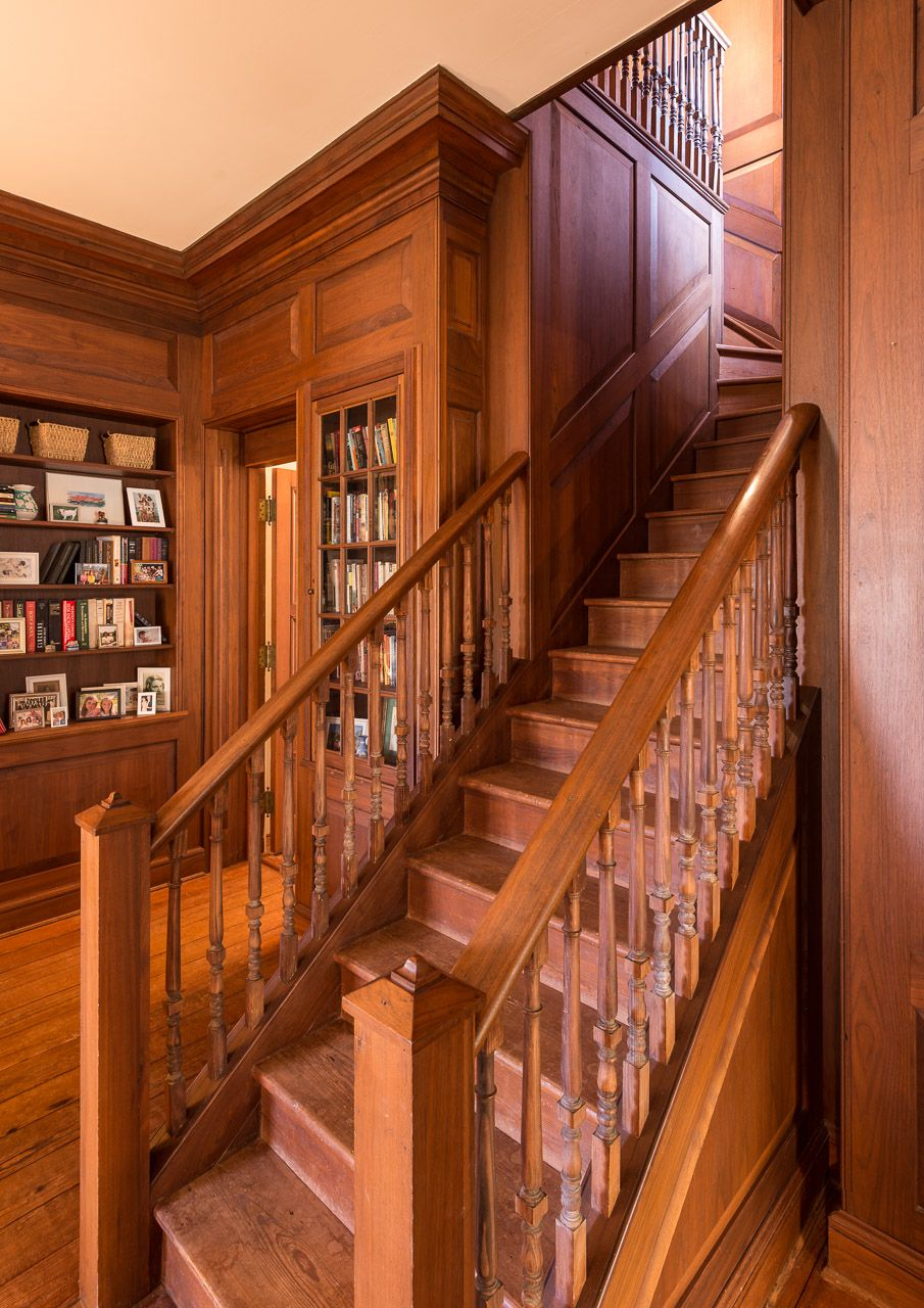 Custom Cabinetry In Library Brick Design Maine House Custom Cabinetry