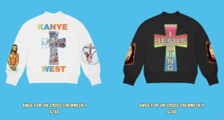 Kanye Wests Latest Jesus Is King Merch Has The Internet Crying Blasphemy God Might Be The Only Thing That Kanye West Loves More Than Hi Kanye Kanye West Merch