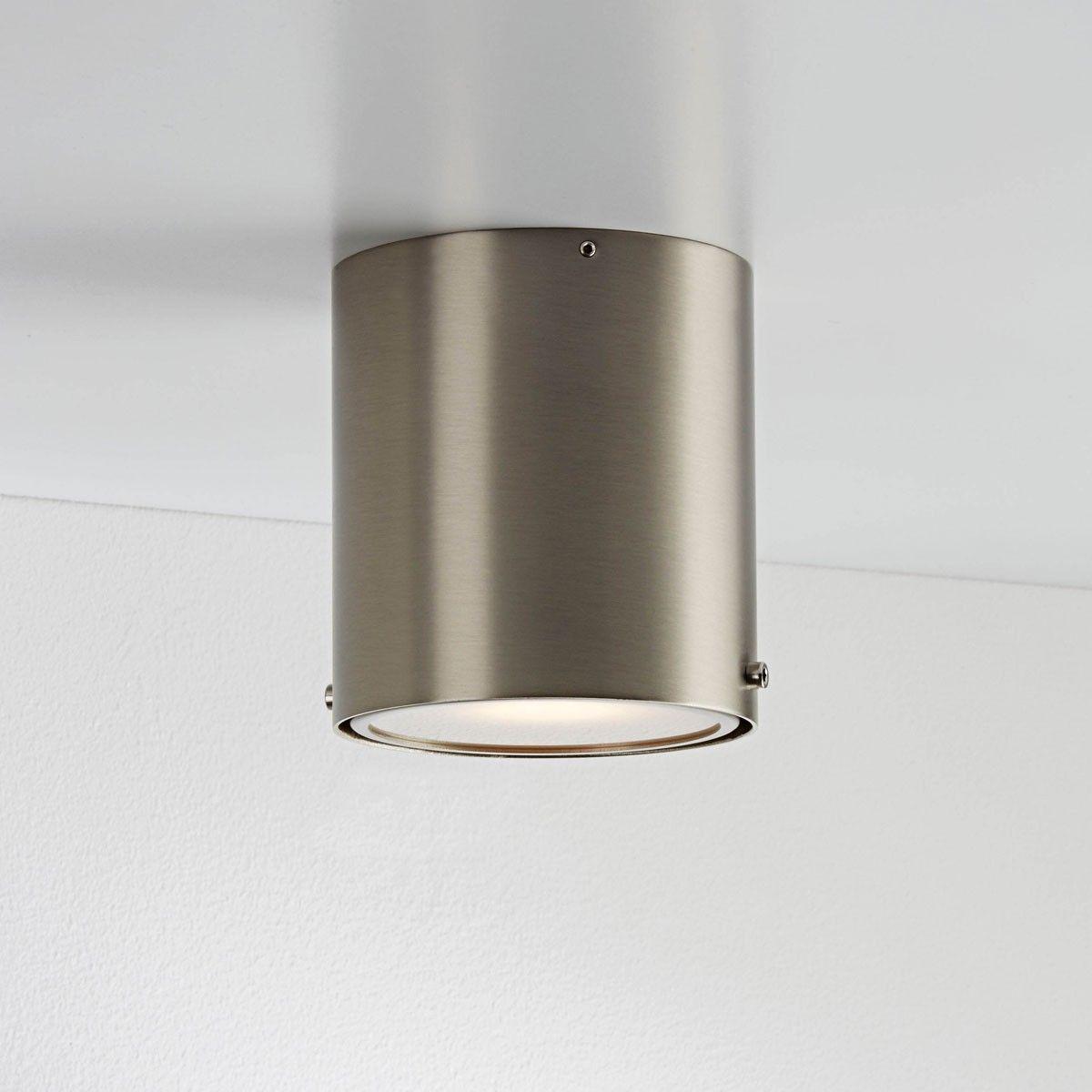 Nordlux Bad Deckenleuchte IP S4 / Stahl Gebürstet / Deckenlampe 78511032/3  In Möbel