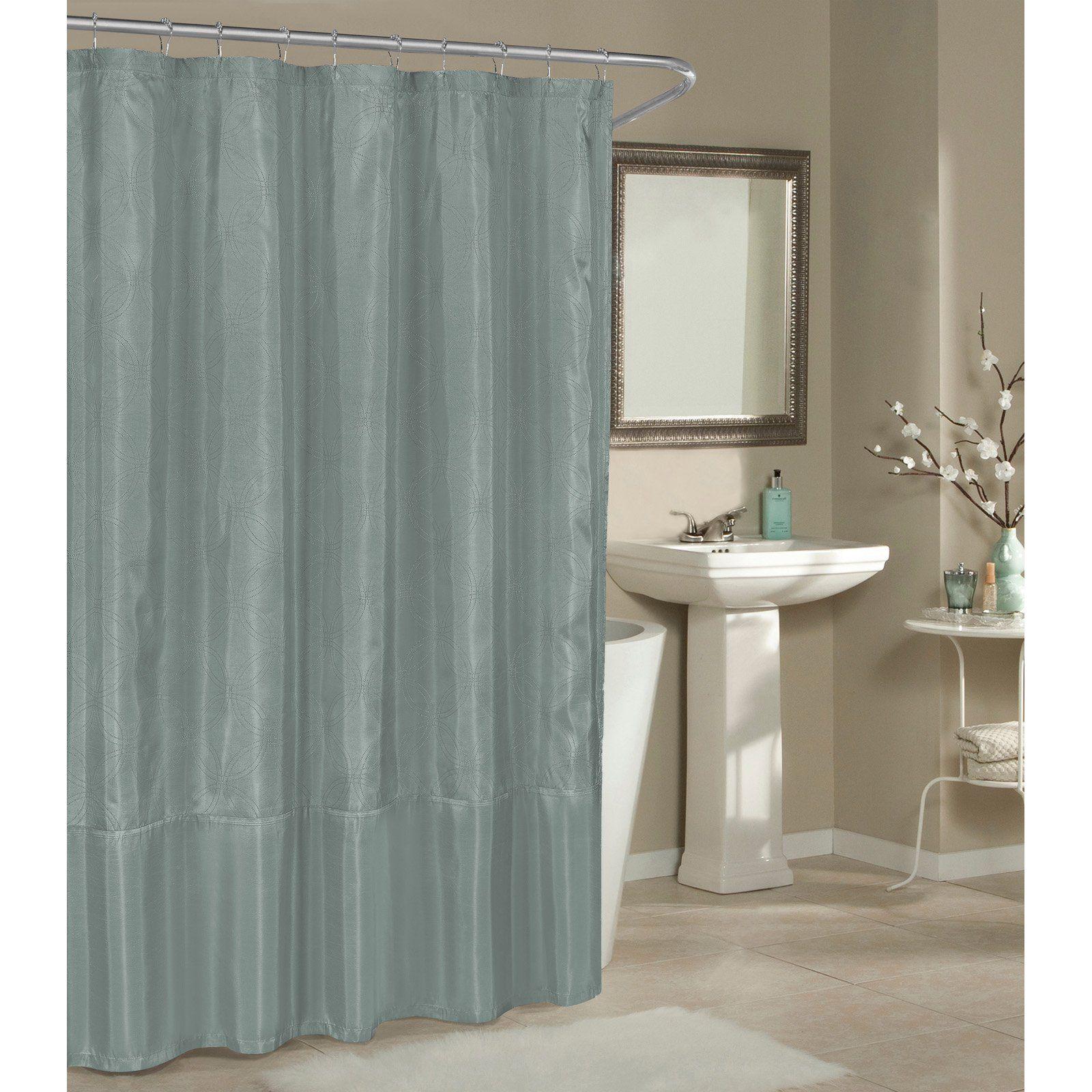 Duck River Belle Shower Curtain Spa Blue Silver Shower Curtain
