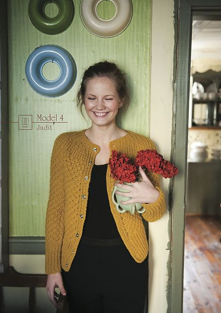"Daisy Stitch Cardigan - free pattern for June 2014 by the ""Island Wool Company"" designer Jansy Simonsen"