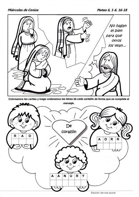 Parroquia La Inmaculada: Miércoles de Ceniza: Ficha para niños ...