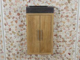 Toiletmeubel manuk 38 cm. met chinees hardstenen wasbakje wc