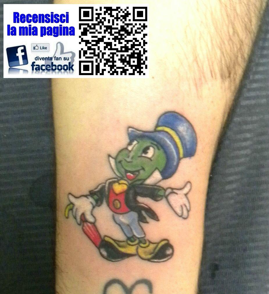 Passionate Anxiety Tattoo For Women: #grillo #parlante #colorstattoo #tatuaggio