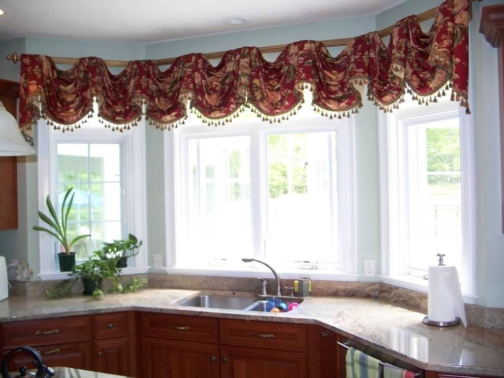 Kitchen Swag Curtains Valance  Window Treatments  Pinterest Magnificent Swag Curtains For Kitchen 2018