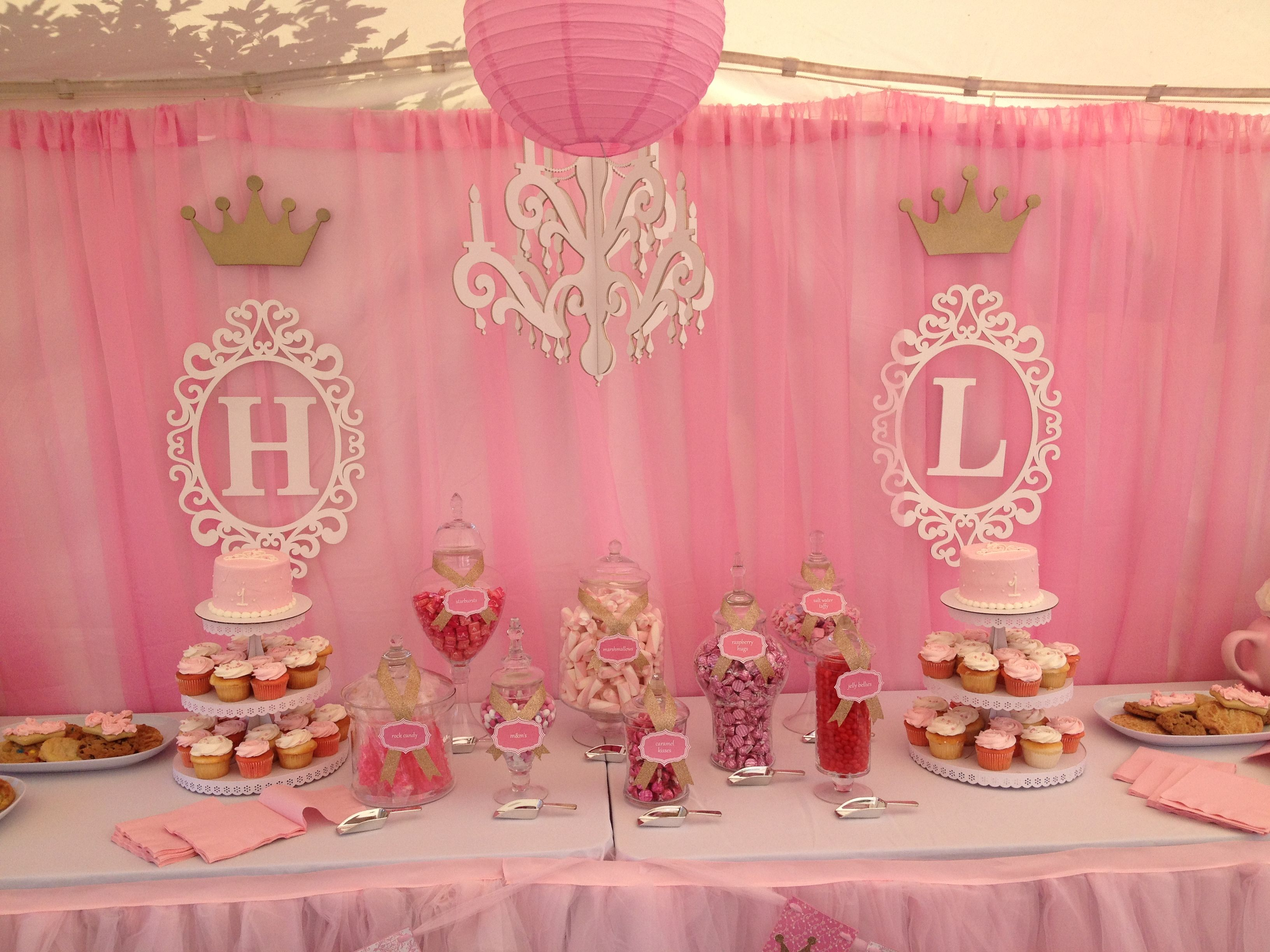 1St Birthday Party Decorations Princess Twincess Birthday Theme  Hadley