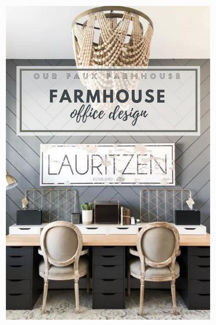 Our Faux Farmhouse Farmhouse Office Design Workspaces