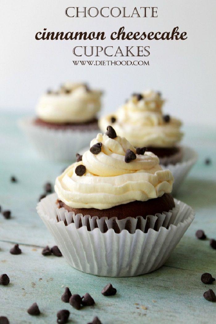 Chocolate Cinnamon Cheesecake Cupcake Recipe #cupcakes #cupcakeideas #cupcakerecipes #food #yummy #sweet #delicious #cupcake