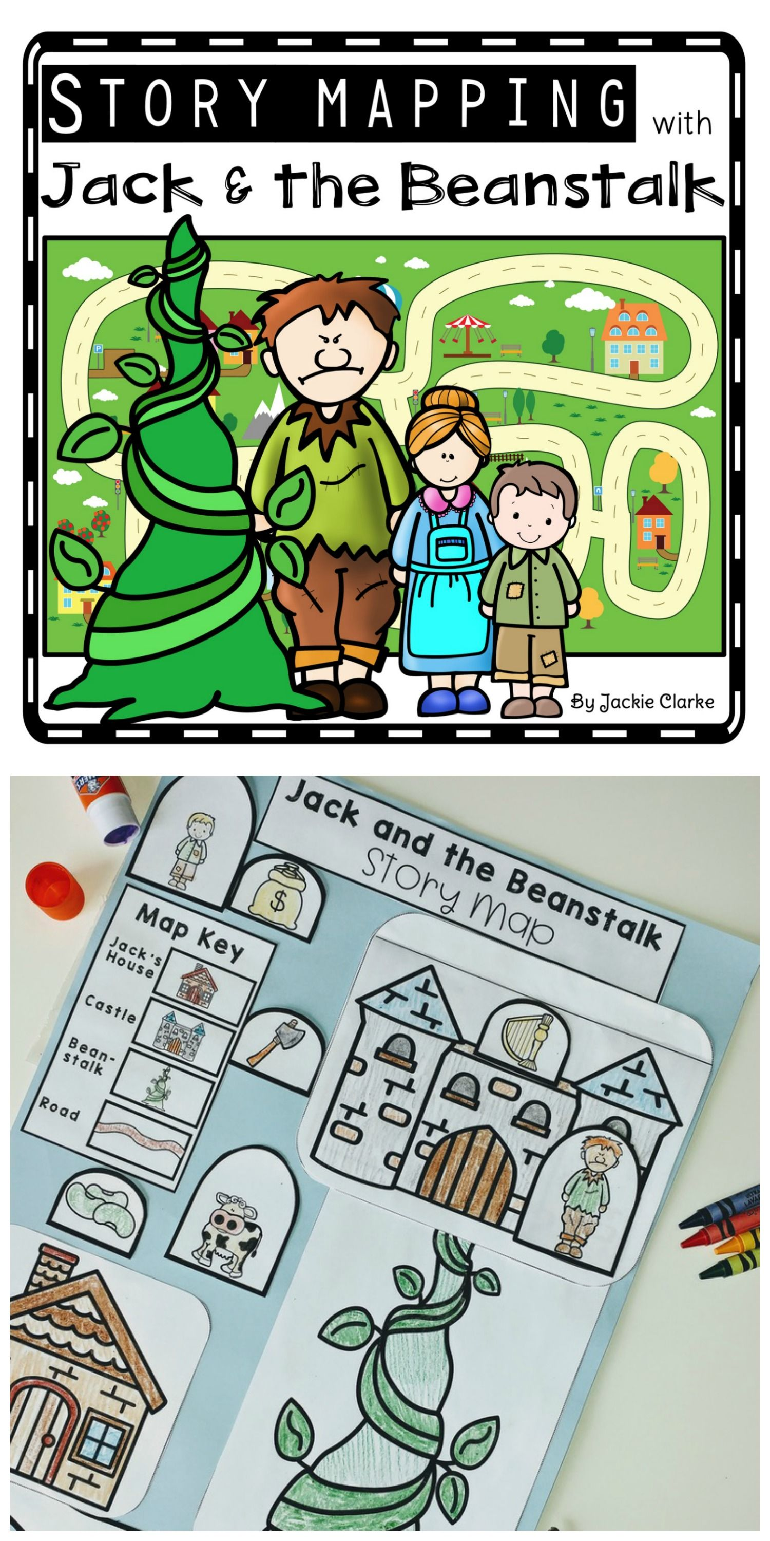 Fairy Tale Story Maps Jack And The Beanstalk Story