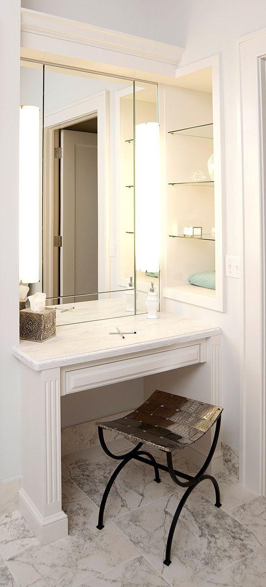 Home Beautiful Cabinets Bathroom Vanity Makeover Master Bathroom Vanity Bathroom With Makeup Vanity