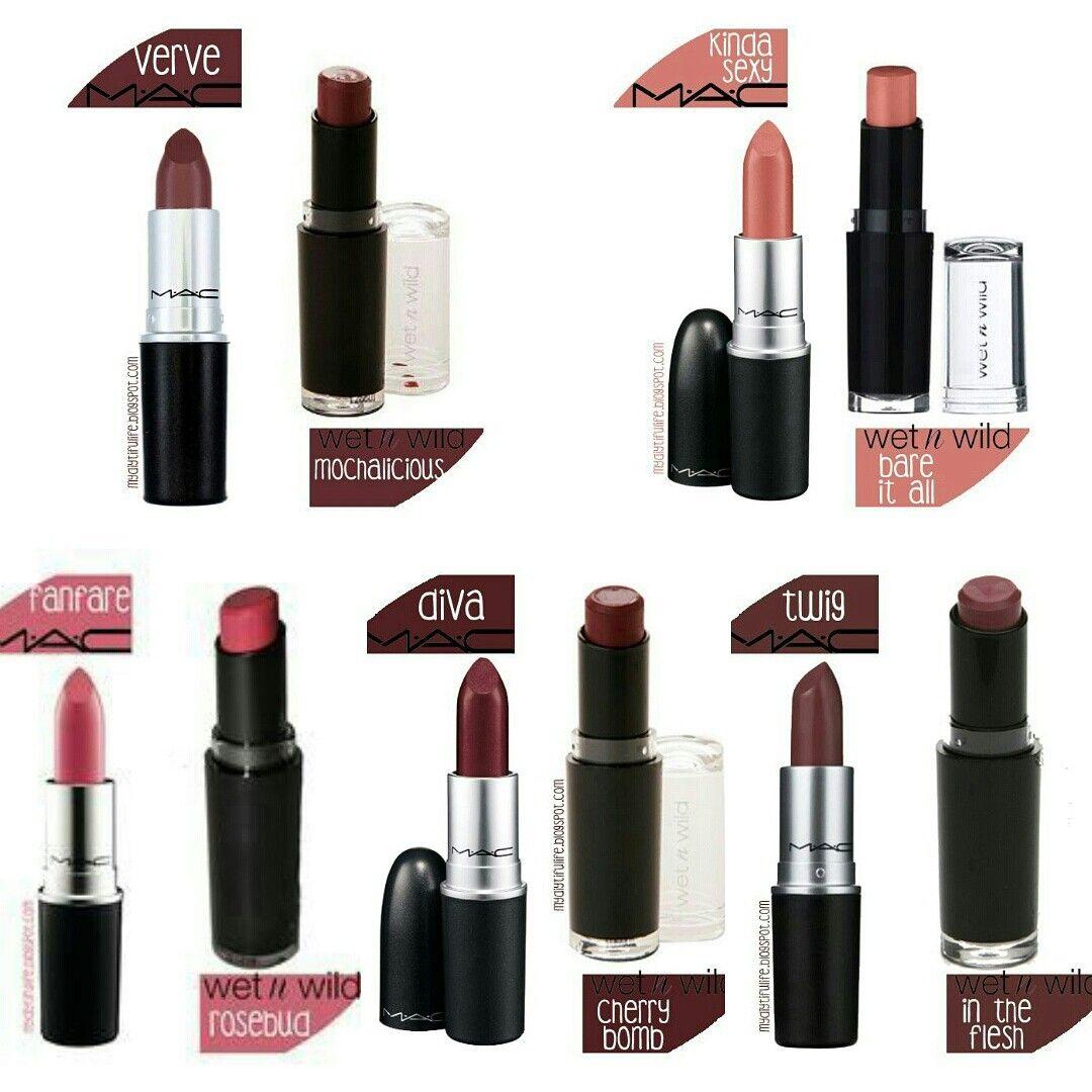 MAC Dupes Using Wet N Wild Makeup dupes, Mac lipstick