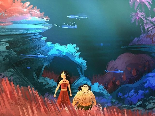 Art is the heart of the story. 💛 (🎨: #Moana concept image)