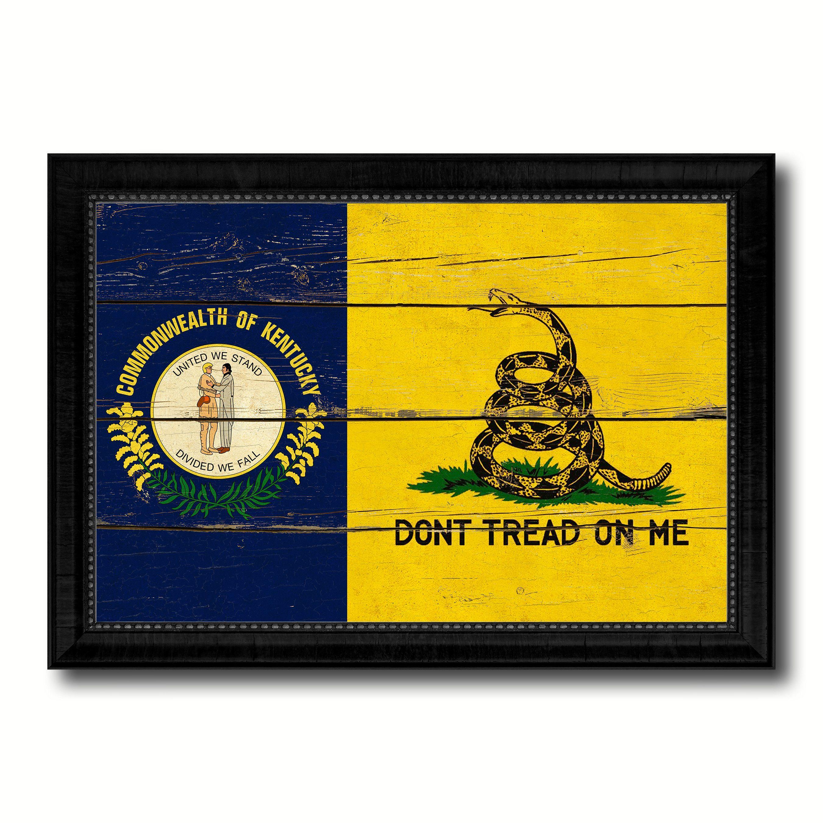 Gadsden Don\'t Tread On Me Tea Party Kentucky State Military Flag ...