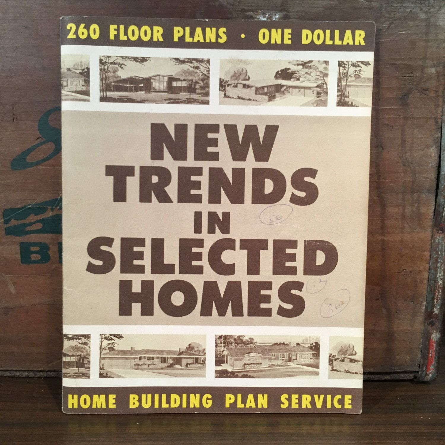 New trends in selected homes 1957 home building plan service new trends in selected homes 1957 home building plan service vintage mid century house blueprint catalog malvernweather Choice Image