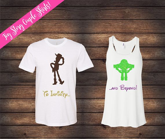 20785179f7 Toy Story Couple Shirts | To Infinity and Beyond Shirts | Disney Couple  Shirts | Disney Shirts | Matching Disney Shirts | His & Her Shirts