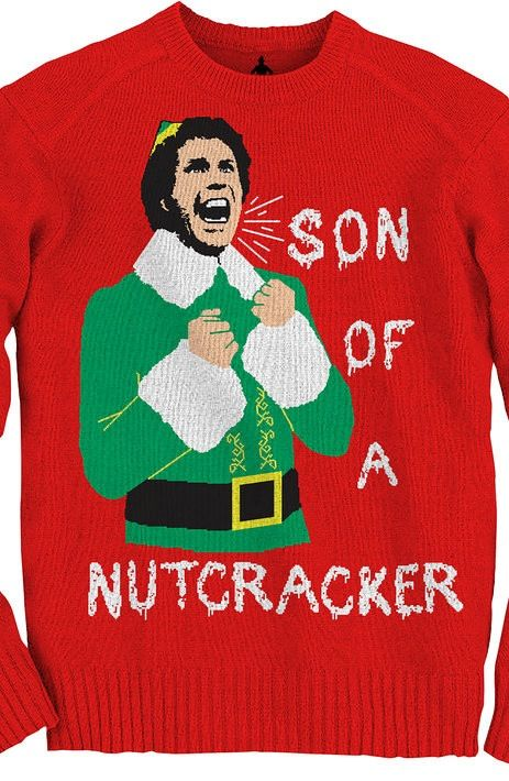 Elf Son Of A Nutcracker Christmas Sweater New Mens T Shirts From