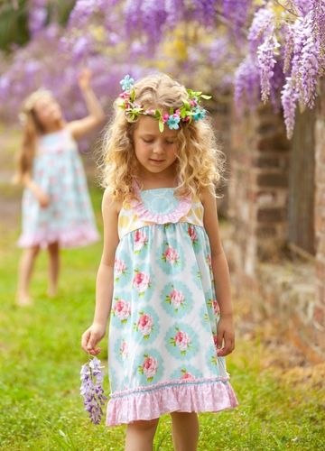 Serendipity by Shrimp and Grits Kids_ Dress custom print fabric ...