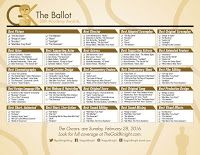 picture about Golden Globe Printable Ballots named 2016 Golden Entire world Awards printable ballot - The Gold Knight